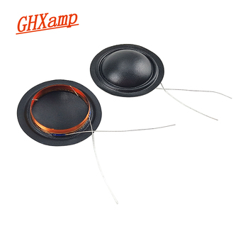 GHXAMP 25.4mm Speaker Voice Coil 4 Ohm Silk Membrane Tweeter Coil Unilateral Outlet For Repair 25.5 Core Speaker Accessories 2pc image