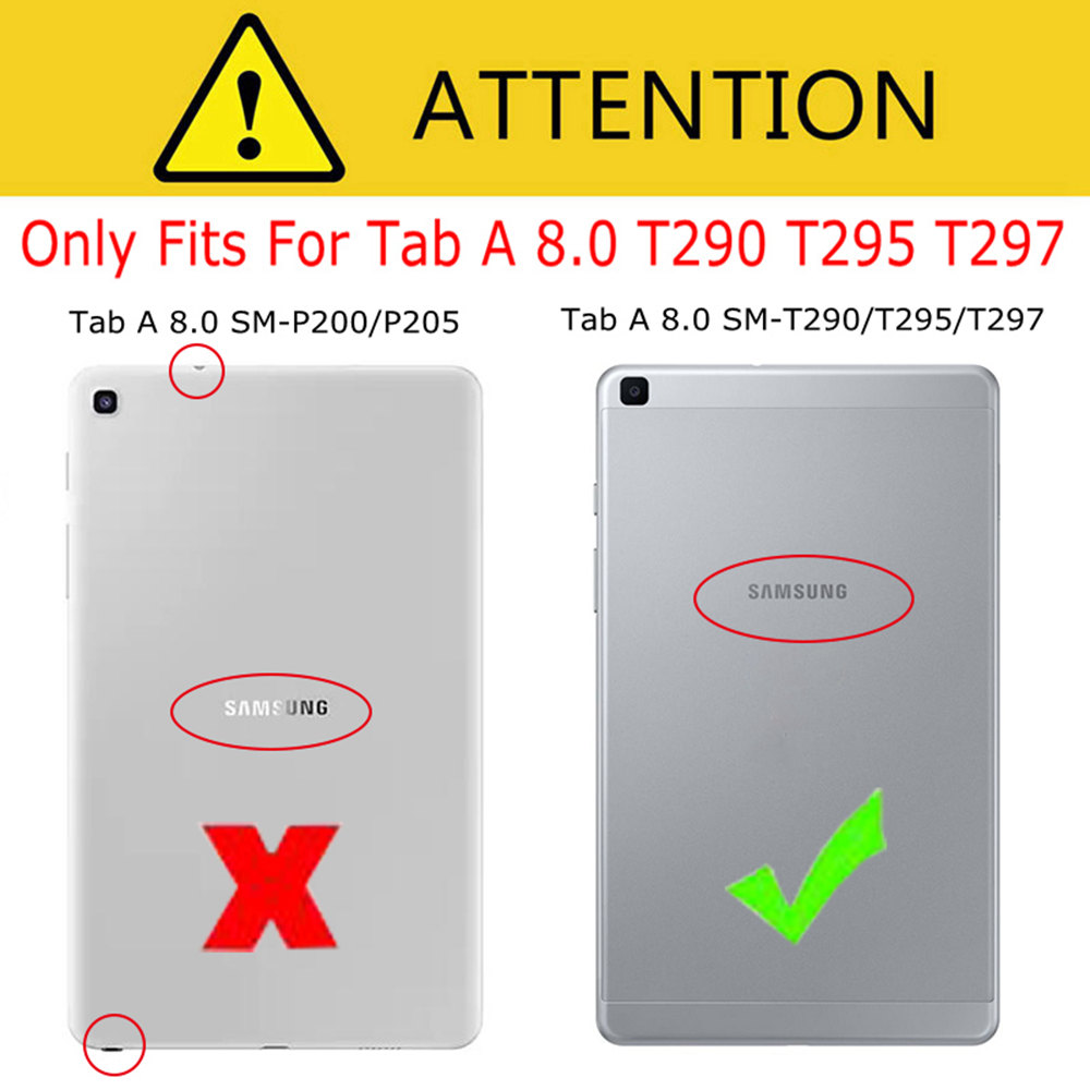 iBuyiWin Ultra-slim Shockproof Silicone Cover for Samsung Galaxy Tab A 8.0 SM-T290/T295/T297 8.0