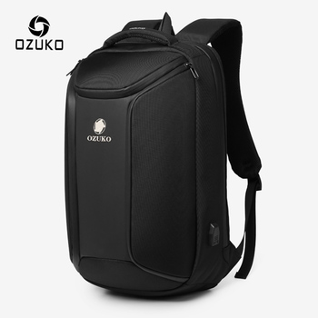 OZUKO Anti-theft Men Backpack Large Capacity 15.6 inch Laptop Backpack Mens Waterproof Backpacks USB Charging Male Travel Bag fenruien brand 17 inch laptop backpack men usb charging travel backpacking school bag nylon waterproof anti theft backpacks