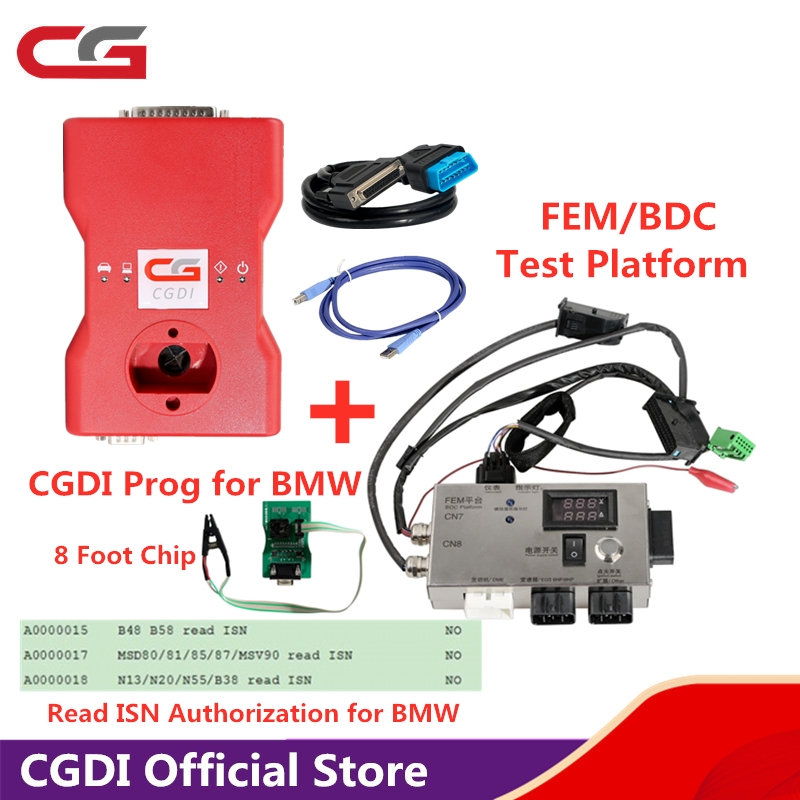 Genuine CGDI Prog For BMW MSV80 Auto Key Programmer With 16 Software Authorizations Get Free 8 Pin Exempt Disassembly Adapter