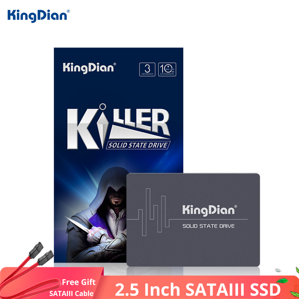 KingDian 2.5'' SATAIII SSD 120GB 240GB 480GB 1TB 2TB SSD SATA HDD Ssd 60GB Hard Disk Internal Solid State Drive For Laptop