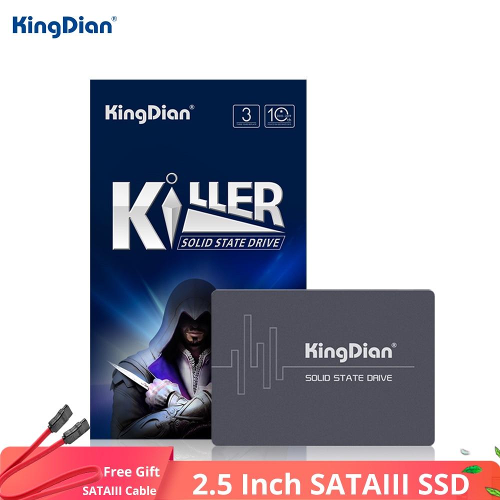 KingDian 2.5'' SATAIII SSD 120GB 240GB 480GB 1TB 2TB SSD SATA HDD Ssd 60GB Hard Disk Internal Solid State Drive For Laptop
