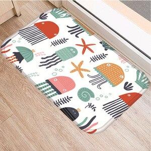 Image 3 - 小動物パターンノンスリップ寝室の装飾ソフトカーペット台所の床リビングルームのフロアマット浴室ノンスリップマット40x60センチメートル。
