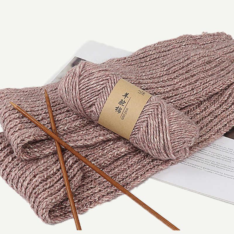 100g/bola RX19 Alpaca Tebal Benang Merajut Natural Mink Kasmir Benang Merino Wol Crochet Tangan Merajut trapillo untuk tejer