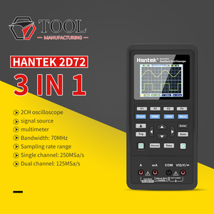 Image 1 - مولد هانتك 2D72 رقمي متعدد الموجات راسم الذبذبات المحمولة 3in1 USB 2 قناة 40mhz 70mhz أفضل مجموعة اختبار
