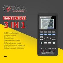 Hantek 2D72 디지털 멀티 미터 파형 발생기 핸드 헬드 오실로스코프 휴대용 3in1 USB 2 채널 40mhz 70mhz Best Tester Kit