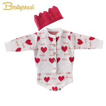 New Heart Baby Girl Romper Cotton for Girls Jumpsuit Knit Infant Onesie Toddler Costume Born Clothes