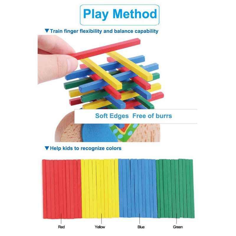 Bebek oyuncakları eğitici deve dengeleme blokları ahşap oyuncaklar ahşap denge oyunu Montessori blokları çocuk için hediye