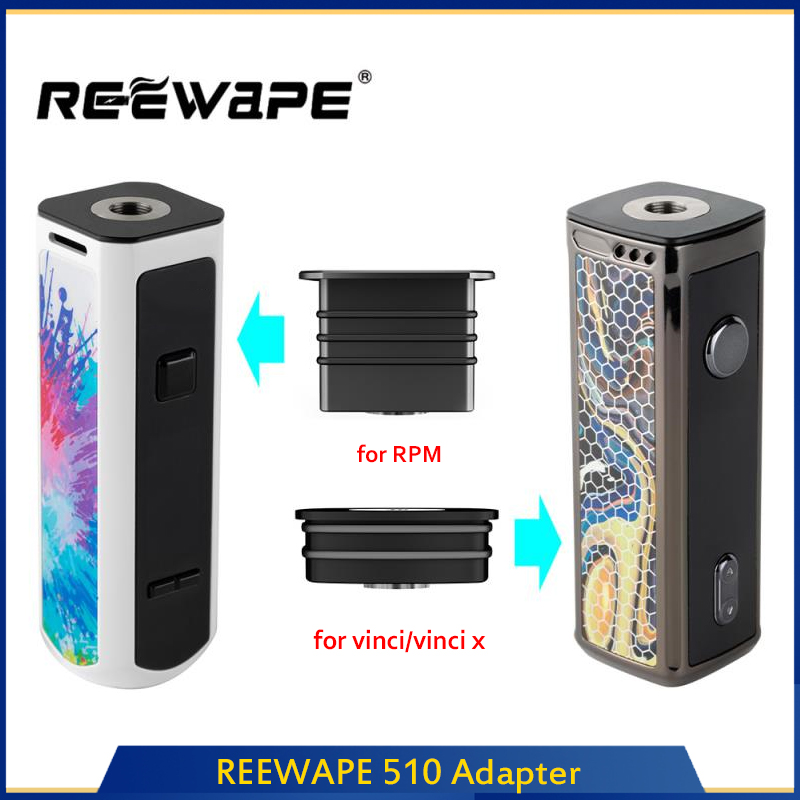E-Cigarette REEWAPE 510 Adapter Cigarette Accessories For SMOK RPM40 / VOOPOO VINCI / VINCI X Kit