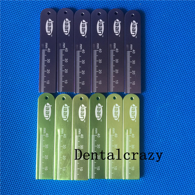 New 12pcs Dental Endo Rulers Span Measure Scale Endodontic made in ALUMINIUM