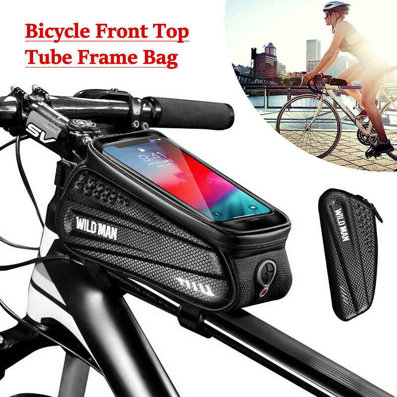 Bicycle Front Frame Bag Touch Screen 6.5in Phone Case Reflective Cycling Bike