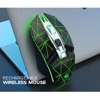 Rato de jogo sem fio profissional ótico da parte alta do rato do jogo da parte alta recarregável conduziu os ratos óticos claros para o pc