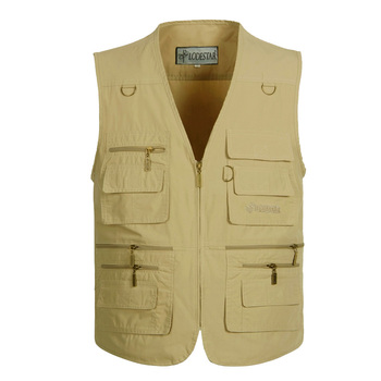 plus size S-5XL Men Spring Autumn Casual Thin Breathable Multi Pocket Waistcoat Mens Baggy Vest With Many Pockets Outdoor Jacket цена 2017