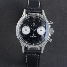 Relógio cronógrafo mecânico safira 38mm luminoso mãos gaivota st1901 movimento masculino relógio panda montre homme 2020