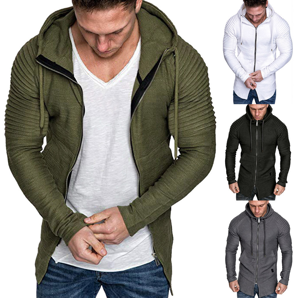 2019 Hot Products Men Autumn Long Sleeve Pockets Hooded Sweatshirt Top Tee Outwear Blouse Dropshipping Discount Free Shipping