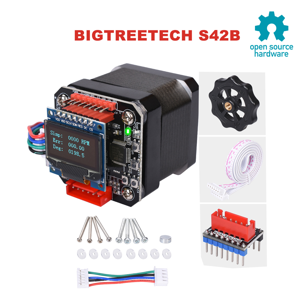 BIGTREETECH S42B V1 1 42 Stepper Motor Closed Loop Driver Control Board OLED Reprap SKR v1 4 Ender 3 MKS Gen L 3D Printer Parts