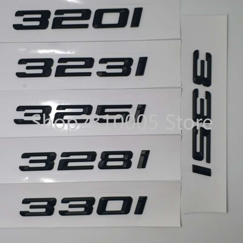 320i 323i 325i 330i 335i Rear Boot Trunk Emblem Letter Badges Car Logo for BMW 3-series F30 F31 F34 E90 E46 Matt Glossy Black