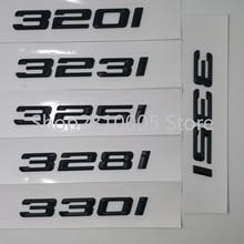 320i 323i 325i 330i 335i сзади загрузки багажник автомобиля эмблемы письмо значки автомобильные брелки с логотипом для BMW 3-серии F30 F31 F34 E90 E46 матовый гл...