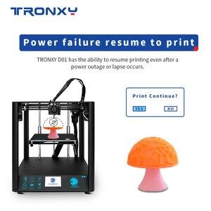 Image 2 - 2020 neueste Schnelle Montage 3D Drucker TRONXY D01 mit Industrie Linear Guide und Titan Extruder Optional Gehäuse acryl bord