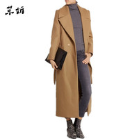 casaco feminino 2019 UK Women Plus size Autumn Winter Cassic Simple Wool Maxi Long Coat Female Robe Outerwear manteau femme