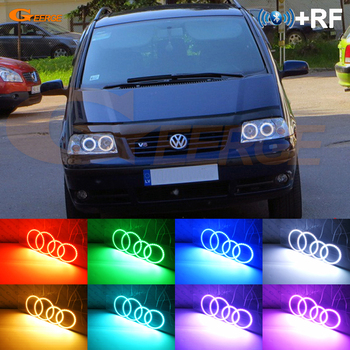 RF remote Bluetooth APP Multi-Color Ultra bright RGB LED Angel Eyes For Volkswagen VW SHARAN Seat Alhambra Facelift 2000-2010