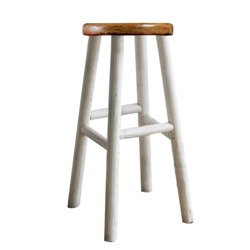American Loft Solid Wood Bar Chair Creative High  European   Simple