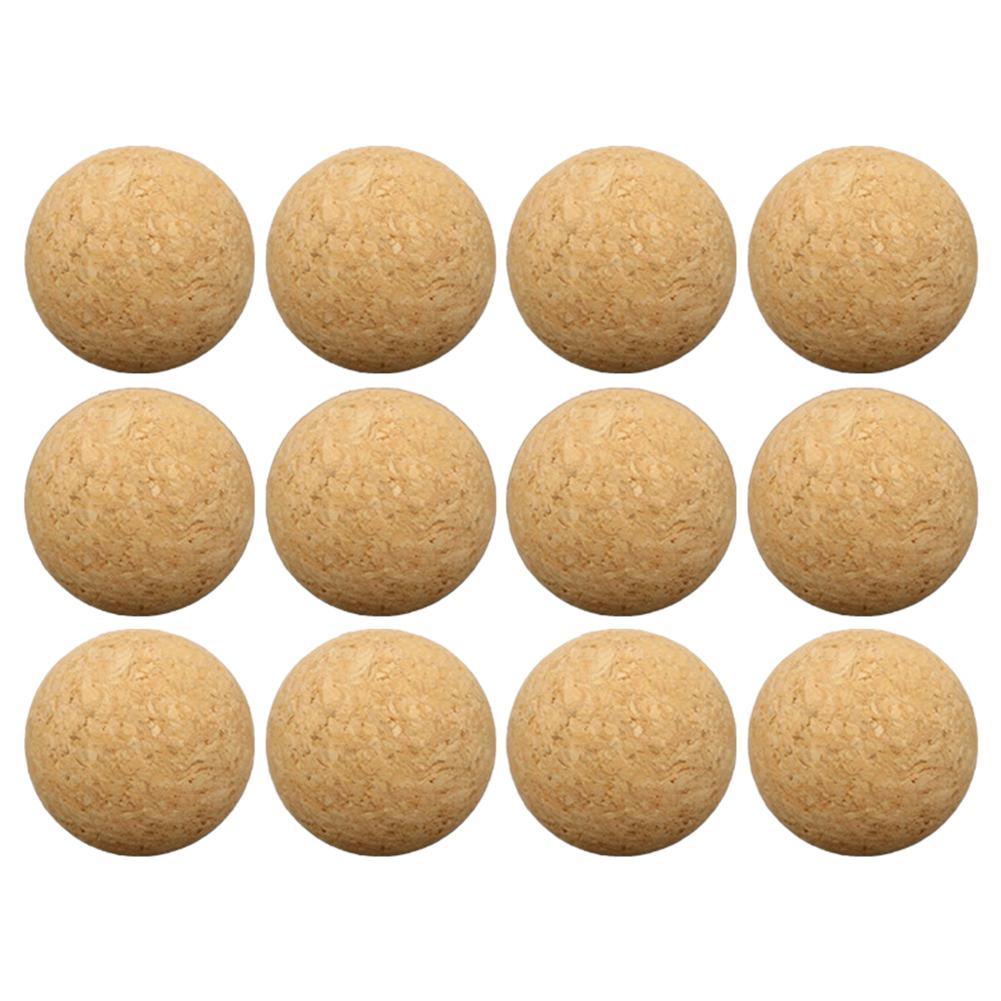 6pcs/12pcs 36mm Cork Solid Wood Foosball Table Soccer Ball Football Baby Foot Fussball Desktop Soccer