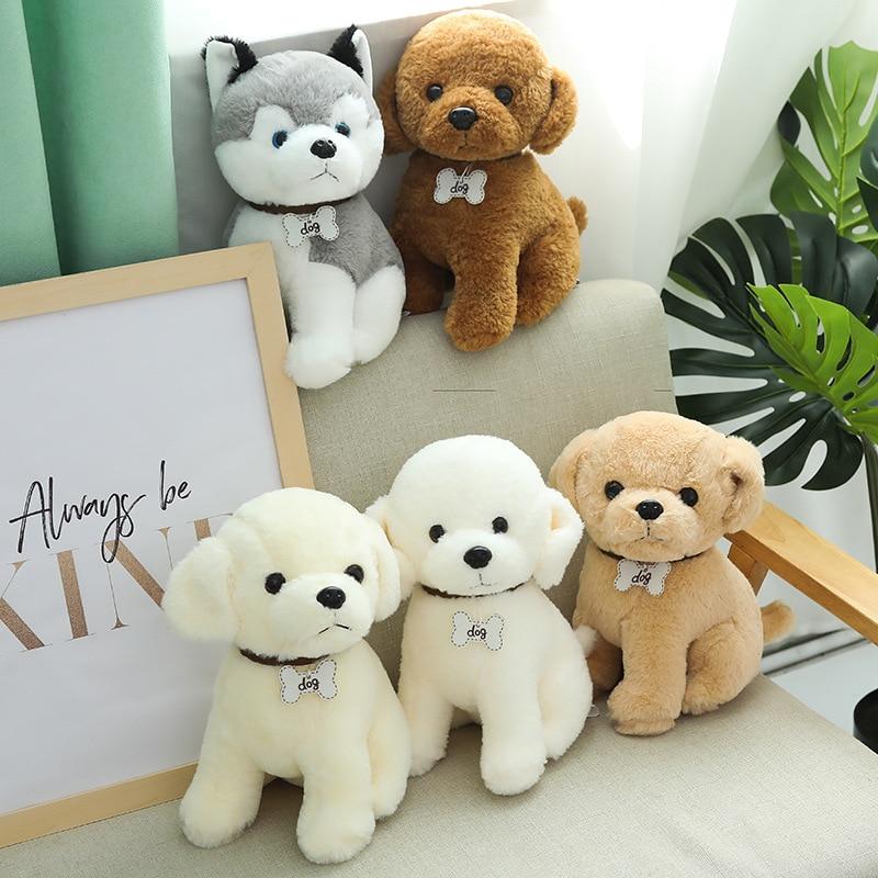 New 22-40cm Cute Doodle Dog Plush Toy Soft Kawaii Puppy Dog Doll Kids Toy Cartoon Animal Girls Children Birthday Christmas Gift