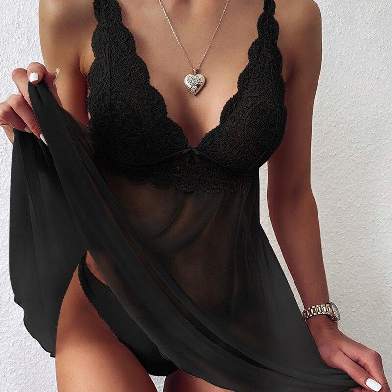 2021 nova moda sexy pijamas mulher bonita casual com decote em v pijamas com rendas confortável crochê casa terno para mulher