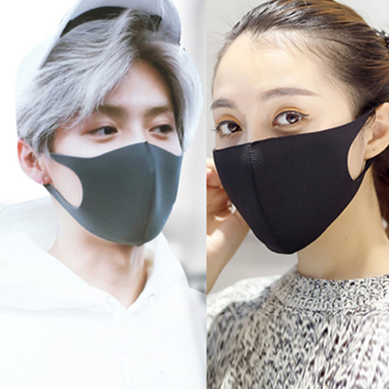 Men Women Mouth Mask Bacteria Proof Cotton Mask PM2.5 Filter Anti-pollution Mask Cycling Wearing Windproof Anti-Dust Face Masks