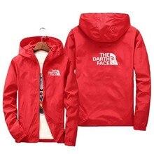 New spring/summer new monogram jacket men's street coat hoodie zipper thin jacket men's casual jacket 7XL 2021