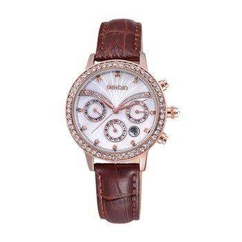 2020 New Brand Fashion Luxury Crystal Diamond Lady Sports Watch Leather Watchband Waterproof Multi functional Quartz Watch