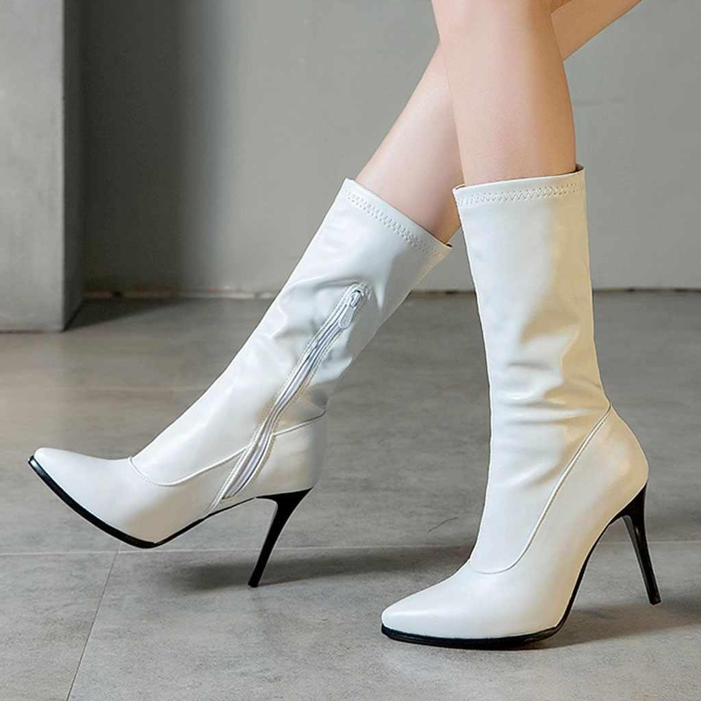 Luipaard Print vrouwen Sexy Sokken Laarzen Winter Suede Wees Korte Laars Vrouwelijke Stijlvolle Stiletto Hak Schoenen Party Prom Wilde botas