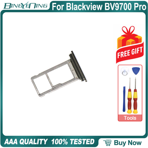 Image 2 - 100% New Original TF/SIM Card Tray Holder Slot For Blackview BV9700 Pro Smartphone Repair Replacement Accessories Parts