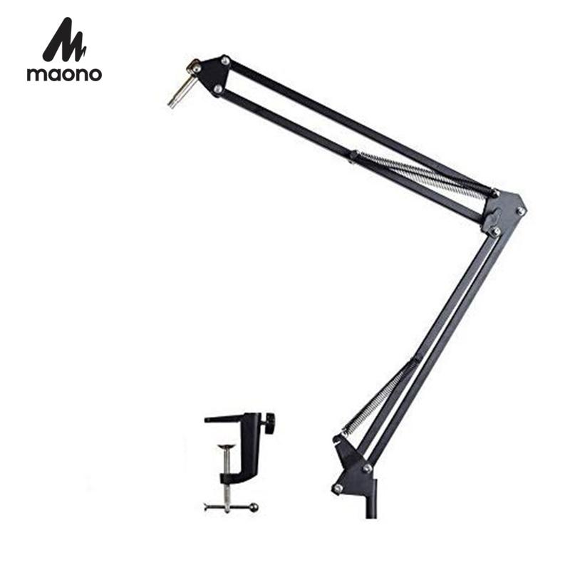 MAONO Microphone Suspension Boom Scissor Arm Stand For Professional Podcast Microfone AU-B01