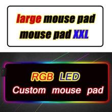 Niestandardowy Led podkładka pod mysz komputer Mausepad Xxl podświetlana mata Genshin wpływ Mause Gamer Overwatch mysz do gier dla niedźwiedzi Rgb dywan