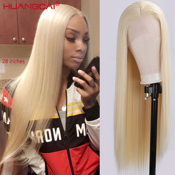 Middle Part Straight 613 Blonde Lace Part Human Hair Wig Pre Plucked 150% Brazilian Honey Blonde 13x1 Lace Wigs Remy Human Hair