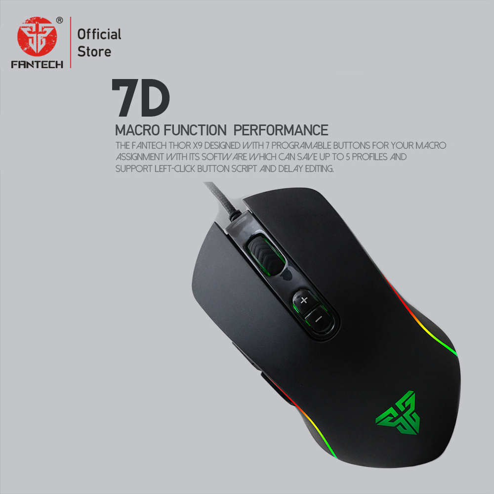 Image 4 - FANTECH X9 Mouse game selection Adjustable 4800 DPI 7 Button Macro Professional Wired Gaming Mouse Optical Mice for PC Game-in Mice from Computer & Office