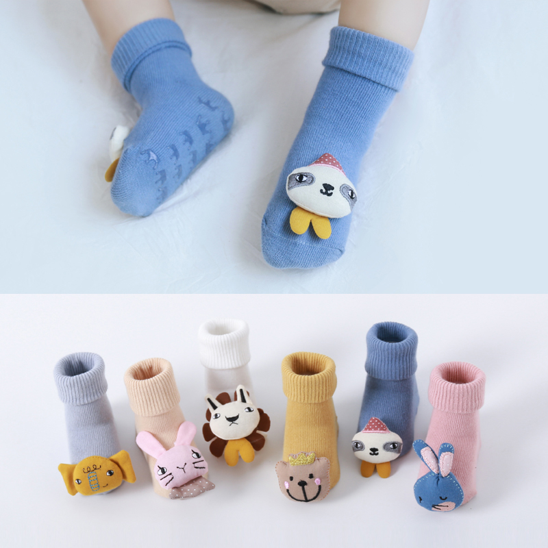 Baby Cute <font><b>Animal</b></font> Cotton Soft <font><b>Socks</b></font> Winter Winter Boys Girls Newborn Non-slip Cartoon Kid Children Toddler Lovely image