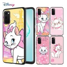 Cartoon różowy Marie Cat do Samsung Galaxy A01 A11 A12 A21 A21S A31 A41 A42 A51 A71 A32 A52 A72 A02S miękki futerał na telefon