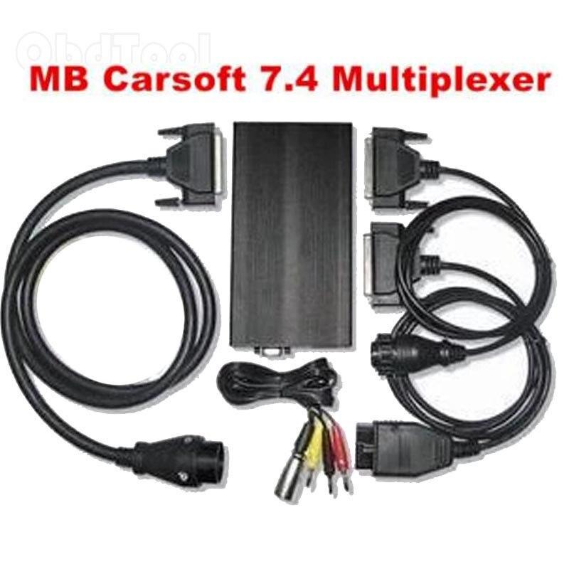 2020 el más nuevo inglés controlado MCU interfaz para MB Carsoft 7,4 diagnóstico multiplexor herramienta Carsoft 7,4 envío de la gota