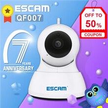 ESCAM QF007 1MP 720P WiFi IR Alarm Pan/Tilt IP kamera desteği 64G TF kart