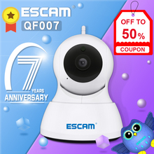 Escam QF007 1MP 720P Wifi Ir Alarm Pan/Tilt Ip Camera Ondersteuning 64G Tf Card