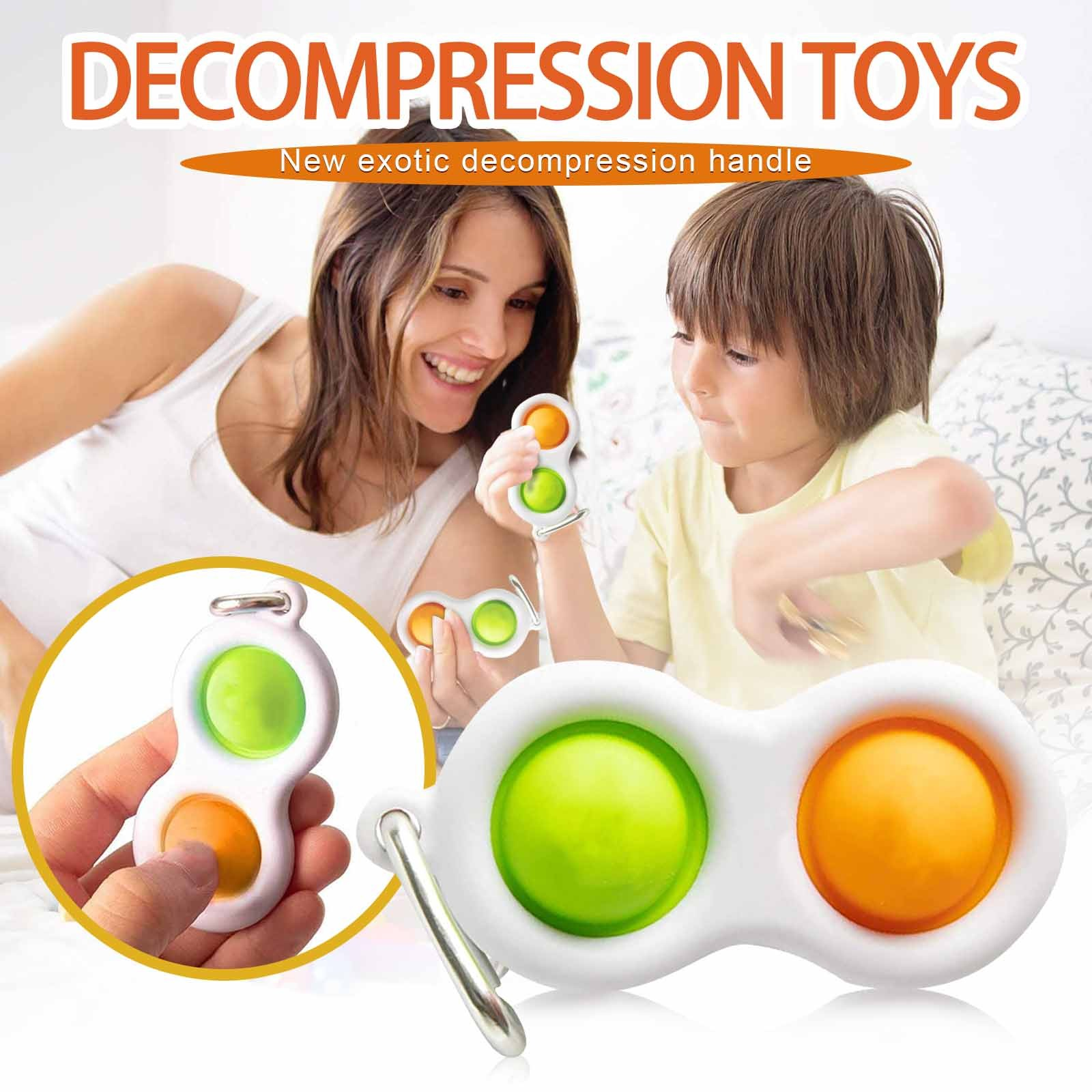 Fidget Toy Busy-Board Montessori Finger-Exercise Push-Pops Baby Keyring Adult Colorful img2