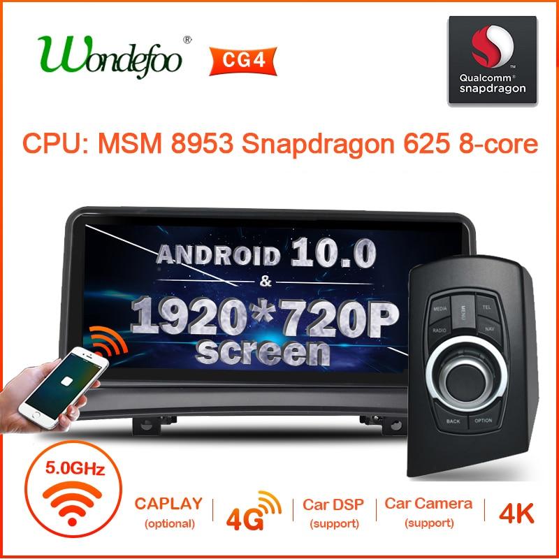 Rádio gps dos multimédios do carro da tela de android 10 snapdrago 1920*720p para o vídeo 4g da navegação de bmw x3 e83 2004-2010 nenhum leitor de dvd do ruído 2
