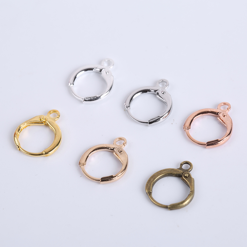 20Pcs/Lot 14x12mm Fashion French Earring Hooks Wire Settings Base Hoops Earrings For DIY Jewelry Making