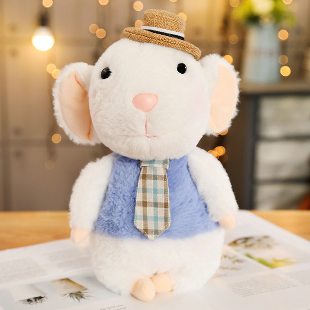 1pc 28CM kawaii Couple Mouse Plush Toys Stuffed Soft Animal Rat Dolls Lovely Toys for Children Home Decoration Birthday Gifts