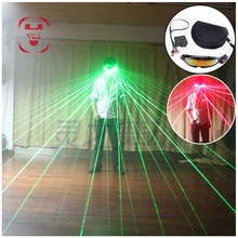 Red Green Line Laser Glasses Rechargeable LED Bar Pub Club DJ Shows Performance Dancing Party Halloween Props