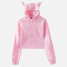 2020 Cat Ear Autumn Hooded Women's Hoody Sweatshirt Fashion