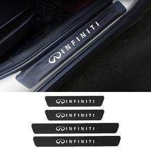4 шт двери автомобиля Наклейка для порога infiniti q30 q50 qx50
